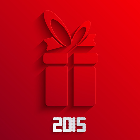 birthday gift: Vector gift background. 2015 new year.