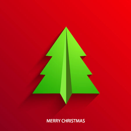 concept christmas tree  Vector