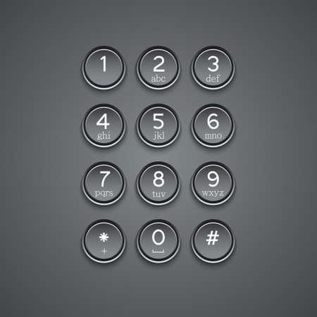 Vector modern phone keypad background Vector