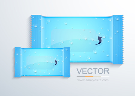 vector modern packaging for wet wipes