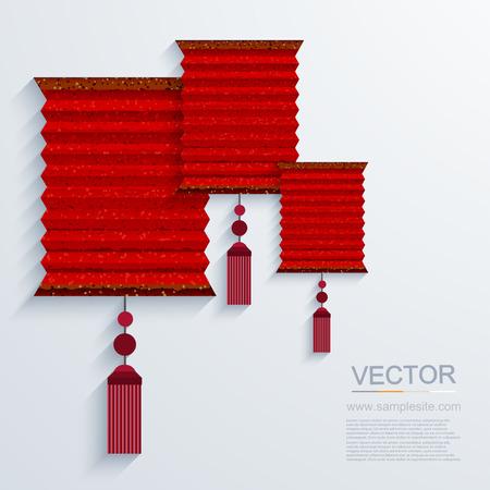 papierlaterne: vektor moderne chinesische Papierlaterne Hintergrund. Illustration