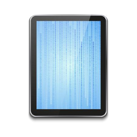 현대 컴퓨터 태블릿 화이트