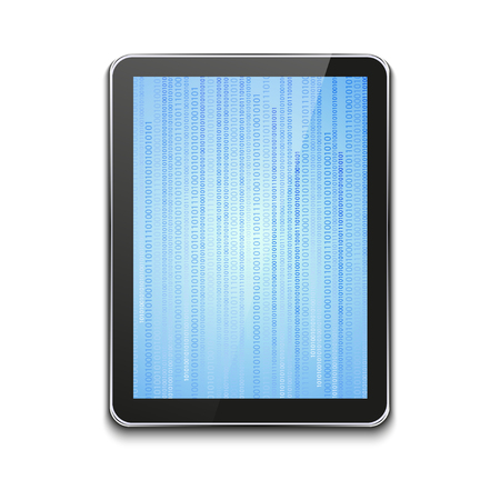 modern computer tablet on white