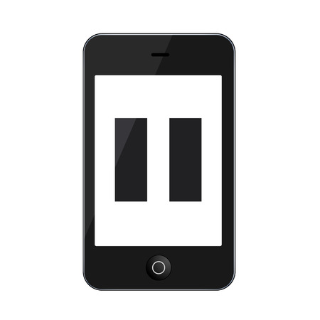 Vector modern smartphone isolated on white Vector