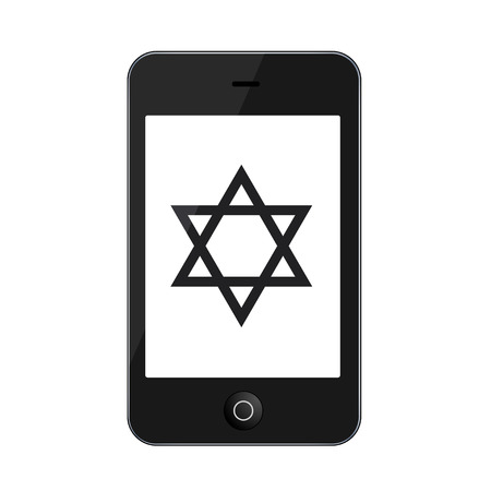 jews: Vector modern smartphone isolated on white