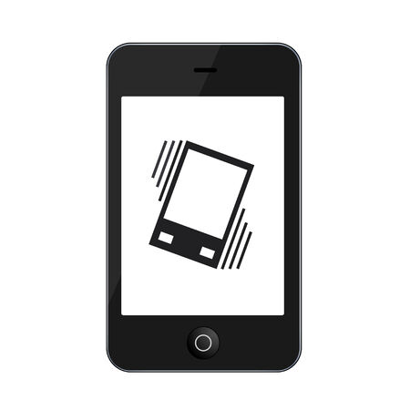 vibrate: Vector modern smartphone isolated on white