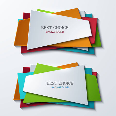 moder: Vector moder banners element design Illustration