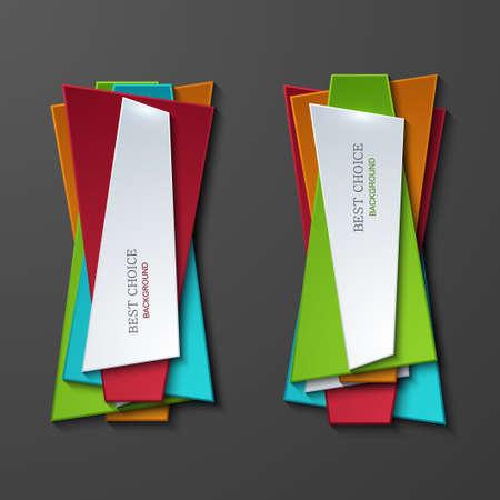 moder: Vector moder banners element design Illustration