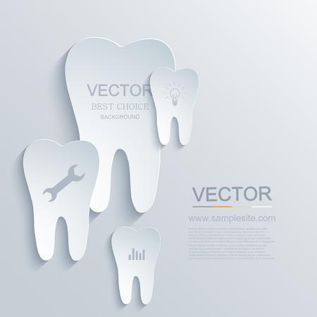 dentist symbol: Vector modern tooth infographic background. medicine element design. Eps10