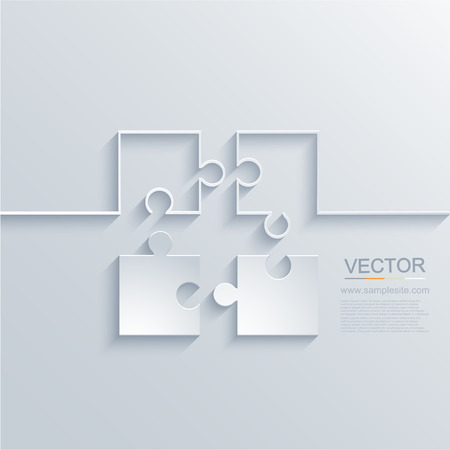 guidelines: vector modern puzzle background. Illustration