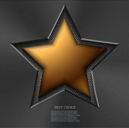 gold star: Vector modern gold star background.