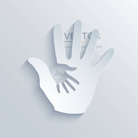 modern hands icon  background Vector