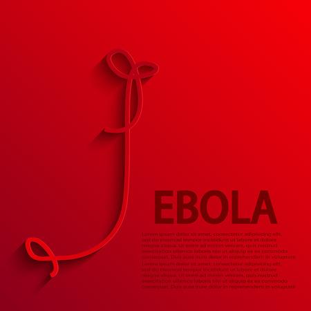 epidemic: vector modern ebola elemenr design.
