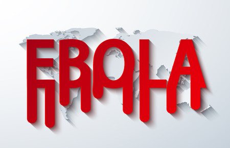 quarantine: vector modern ebola elemenr design