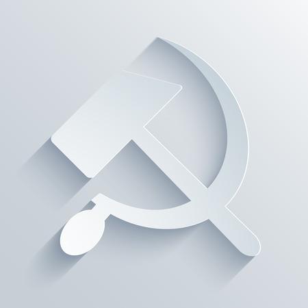 modern sickle and hammer symbol background. Vector