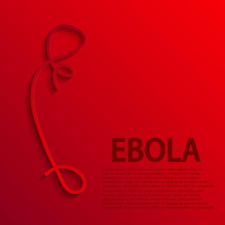 quarantine: vector modern ebola elemenr design.