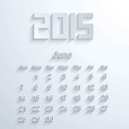 Vector modern 2015 calendar. Eps 10 Vector
