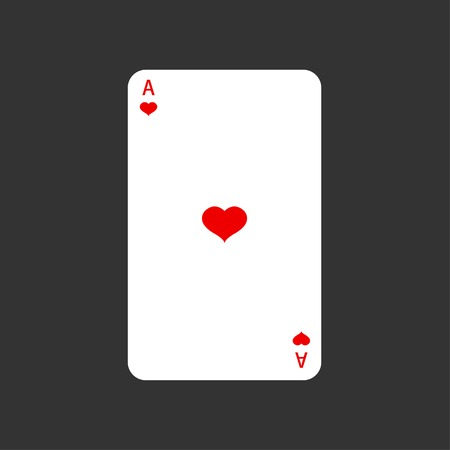 ace: Vector ace playing card on gray