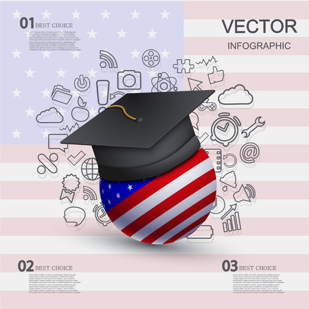 vector modern education infographic background Vector
