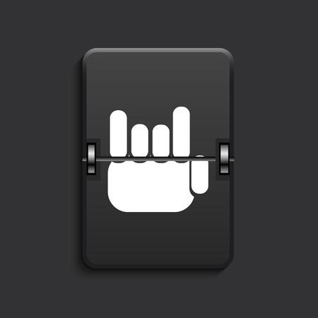 10 fingers: vector modern fingers fan scoreboard black icon. Eps 10 Illustration