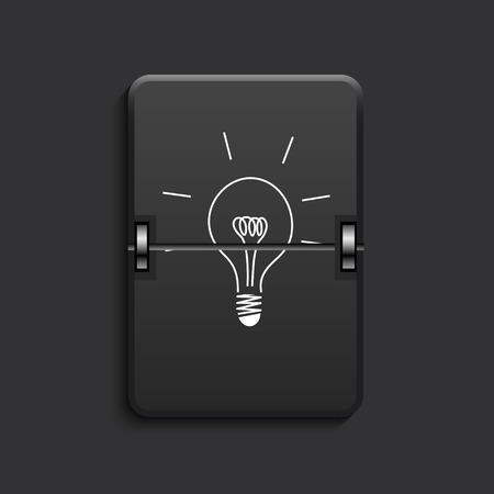 vector modern idea scoreboard black icon. Eps 10 Illustration