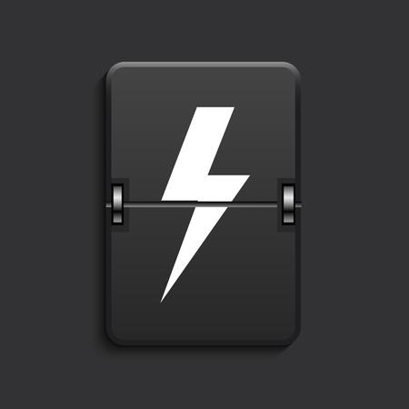 vector modern lightning scoreboard black icon. Eps 10 Vector