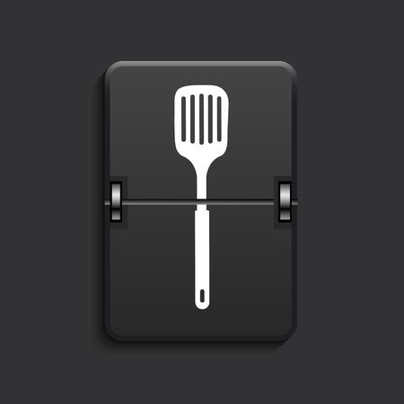 heatproof: vector modern scoreboard black icon. Eps 10