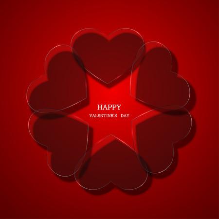 stylish couple: vector modern valentines day background. Eps 10 Illustration