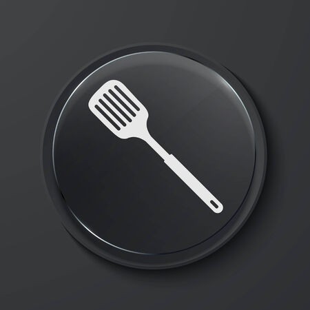 slotted: Vector modern black glass circle icon. Eps10