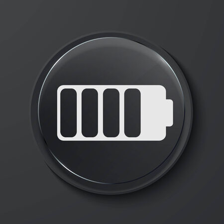 buttery: Vector buttery modern black glass circle icon. Eps10