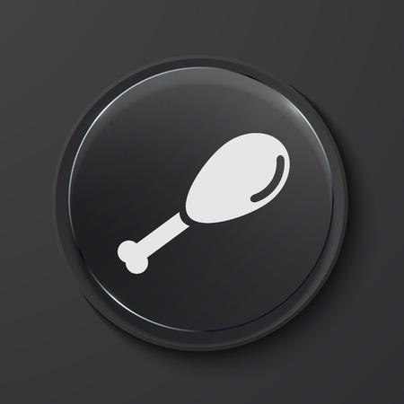 gammon: Vector jam�n moderno icono del c�rculo de cristal negro. Eps10