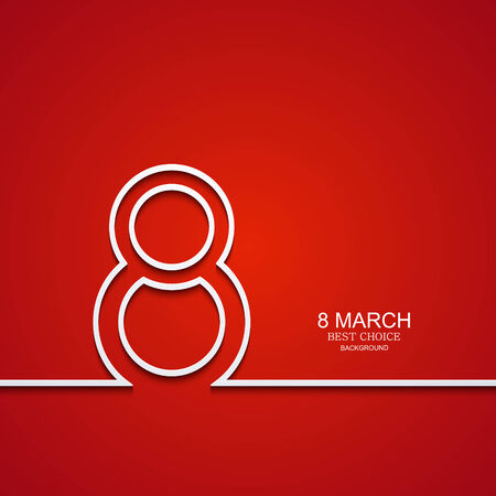 Vector modern 8 march background. Womens day banner. Eps10