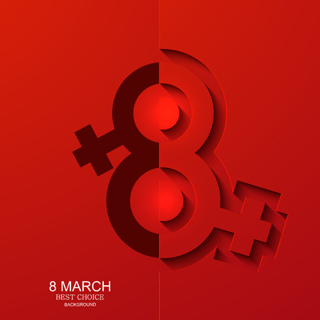 womens day: Vector modern 8 march background. Womens day banner. Eps10