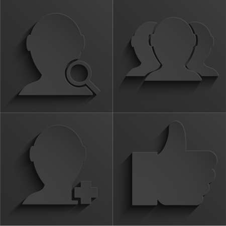 vector modern social network icons set.