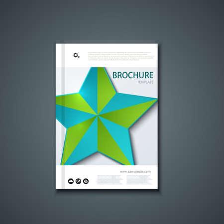 page background: Vector flyer or banner. Brochure template design. Illustration