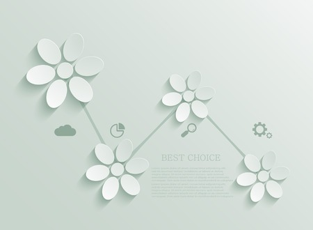 groene bloemen: modern green flowers infographic background design