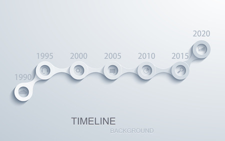 Vector modern timeline infographic. 일러스트