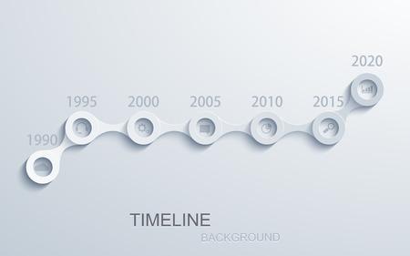 Vector moderne tijdlijn infographic.