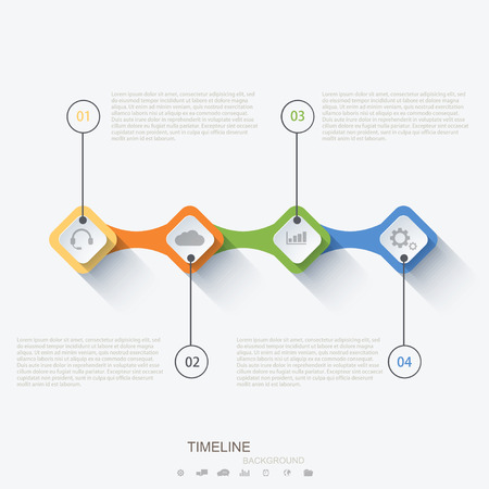 schedule reports: Vector modern timeline infographic. Illustration