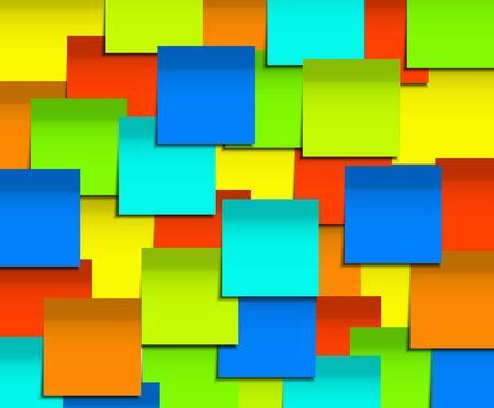 sticky note: Vector modern square sticky note  background.