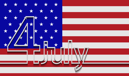 4th: Vector modern 4th july background. Illustration
