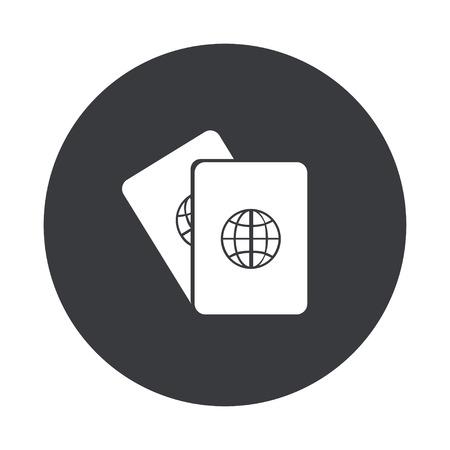 citizenship: Vector modern  gray circle icon