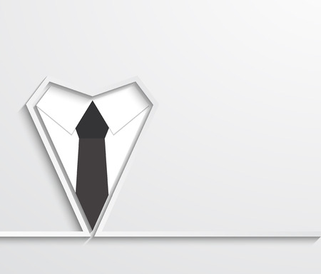 Vector modern fathers day background.