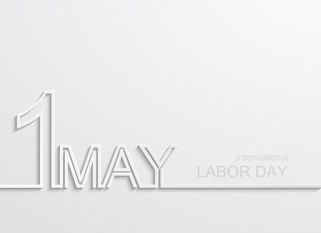industrial worker: Vector modern 1 may international labour day Illustration