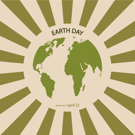 earth: Vector modern april 22 earth day background.