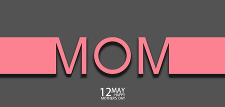mothers day background: Vector modern 12 may mothers day background. Vettoriali