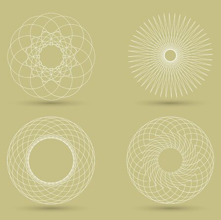 guilloche: vector modern white geometric shape, guilloche
