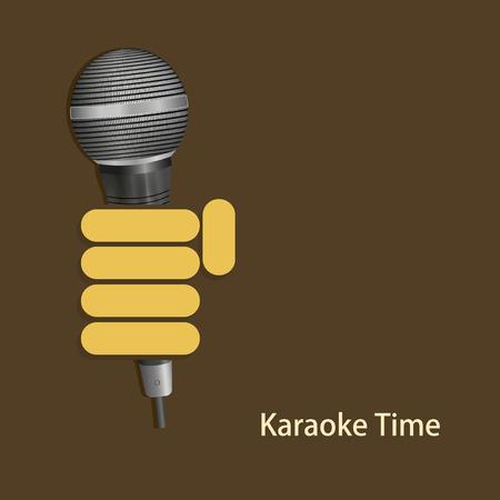karaoke: vector modern karaoke time background. Illustration