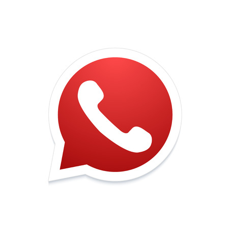 friend  nobody: Vector modern phone icon in bubble speech