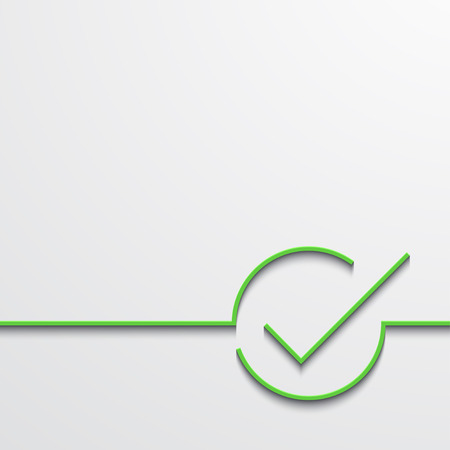 Vector modern green check mark on black